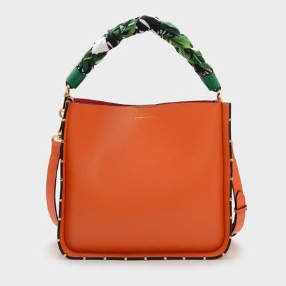 スカーフラップハンドルバッグ / SCARF WRAPPED HANDLE BAG (Orange)