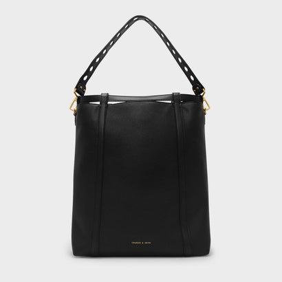 ドローストリング ショルダーバッグ / DRAWSTRING SHOULDER BAG (Black)