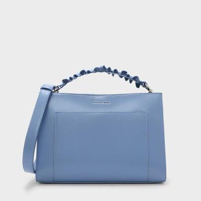ラッフルハンドルバッグ / RUFFLE HANDLE BAG (Blue)