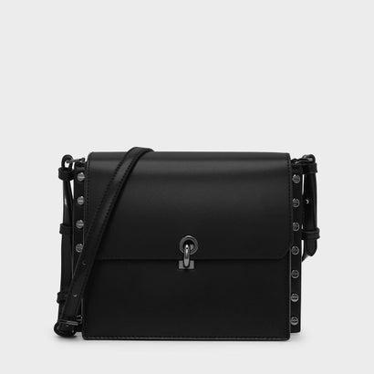 リバーシブルフラップクロスボディバッグ / REVERSIBLE FLAP CROSSBODY BAG (Black)