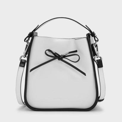 ボウディテール ドローストリング バッグ / BOW DETAIL DRAWSTRING BAG(White)