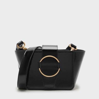 サーキュラーディテールクロスボディバッグ / CIRCULAR DETAIL CROSSBODY BAG (Black)