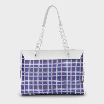 プリントメッシュトートバッグ / PRINTED MESH TOTE BAG (Blue)