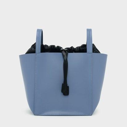 ドローストリングディテールクロスボディバッグ / DRAWSTRING DETAIL CROSSBODY BAG (Blue)
