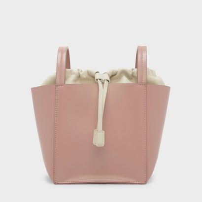 ドローストリング ディテール クロスボディバッグ / DRAWSTRING DETAIL CROSSBODY BAG (Pink)