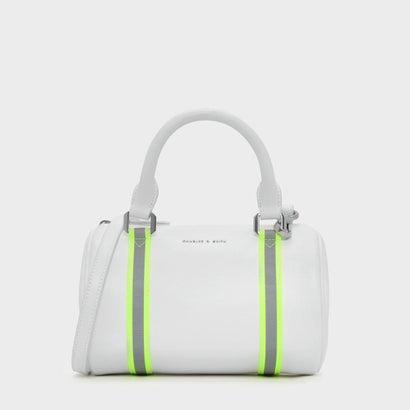 ネオンストラップ ディテール ダッフルバッグ / NEON STRAP DETAIL DUFFEL BAG (White)