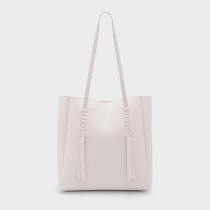 ウーブディテールトート / WEAVE DETAIL TOTE (Light Pink)