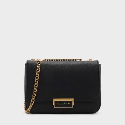 クラシックプッシュロッククロスボディバッグ / CLASSIC PUSH-LOCK CROSSBODY BAG (Black)