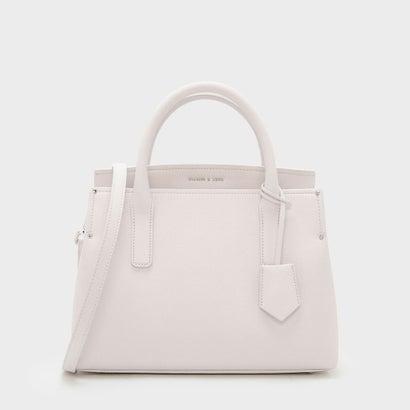 ストラクチャー トップハンドルバッグ / STRUCTURED TOP HANDLE BAG (Light Pink)