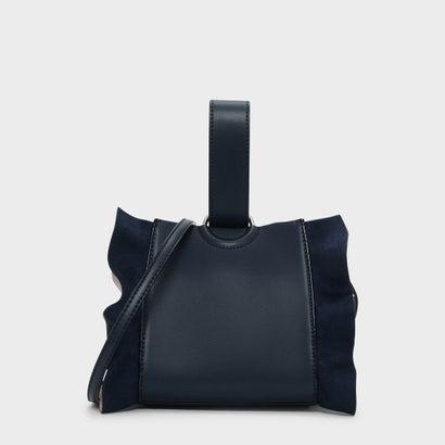 ラッフルディテールリスレットハンドルバッグ / RUFFLE DETAIL WRISTLET HANDLE BAG (Blue)