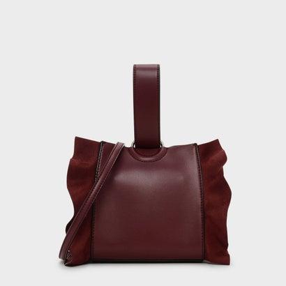 ラッフルディテール リスレットハンドル バッグ / RUFFLE DETAIL WRISTLET HANDLE BAG (Red)