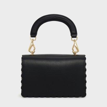 スカラップ トリム クロスボディバッグ / SCALLOP TRIM CROSSBODY BAG (Black)