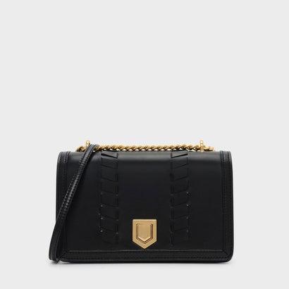 ウエーブディテール クロスボディバッグ / WEAVE DETAIL CROSSBODY BAG (Black)