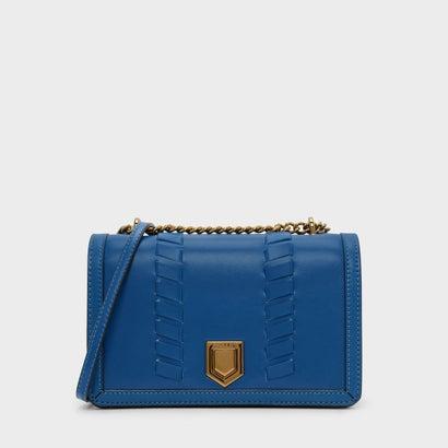 ウエーブディテールクロスボディバッグ / WEAVE DETAIL CROSSBODY BAG (Blue)