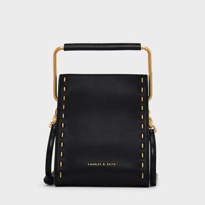 ステープラーエフェクトストラクチャーバッグ / STAPLER EFFECT STRUCTURED BAG (Black)