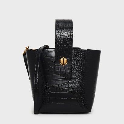 リスレットハンドルバケツバッグ / WRISTLET HANDLE BUCKET BAG (Black)