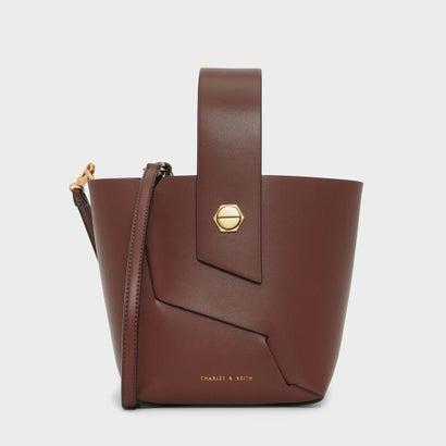リスレットハンドルバケツバッグ / WRISTLET HANDLE BUCKET BAG (Cognac)