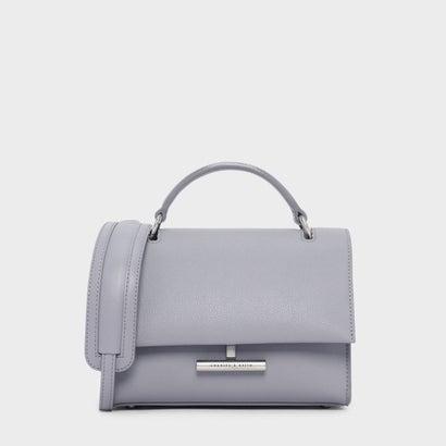 プッシュロックフロントフラップバッグ / PUSH-LOCK FRONT FLAP BAG (Lilac Grey)