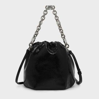 チェーンハンドルバケツバッグ / CHAIN HANDLE BUCKET BAG (Black)