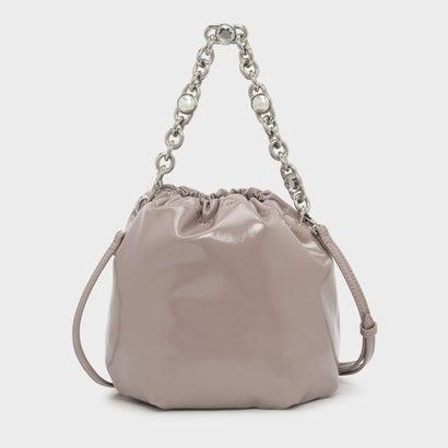チェーンハンドルバケツバッグ / CHAIN HANDLE BUCKET BAG (Nude)