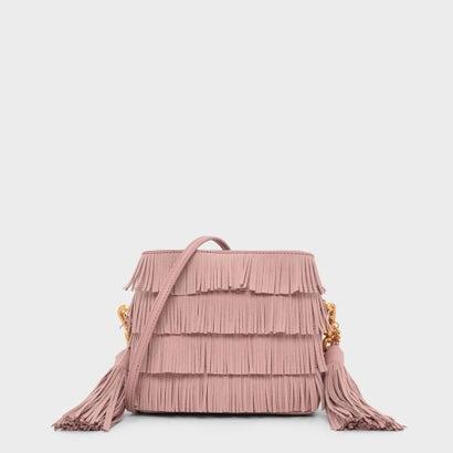 フリンジディテール バケツバッグ / FRINGE DETAIL BUCKET BAG (Blush)