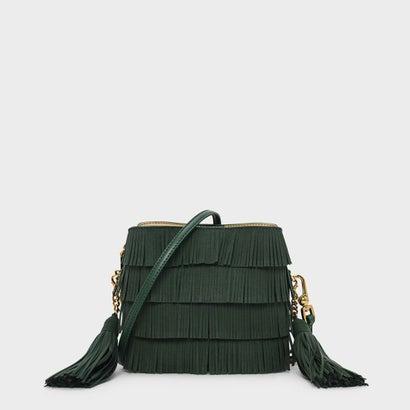 フリンジディテールバケツバッグ / FRINGE DETAIL BUCKET BAG (Dark Green)