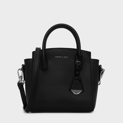 トップハンドルストラクチャーバッグ / TOP HANDLE STRUCTURED BAG (Black)