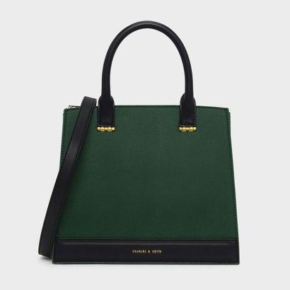 トップハンドル コントラスト バッグ / TOP HANDLE CONTRAST BAG (Dark Green)