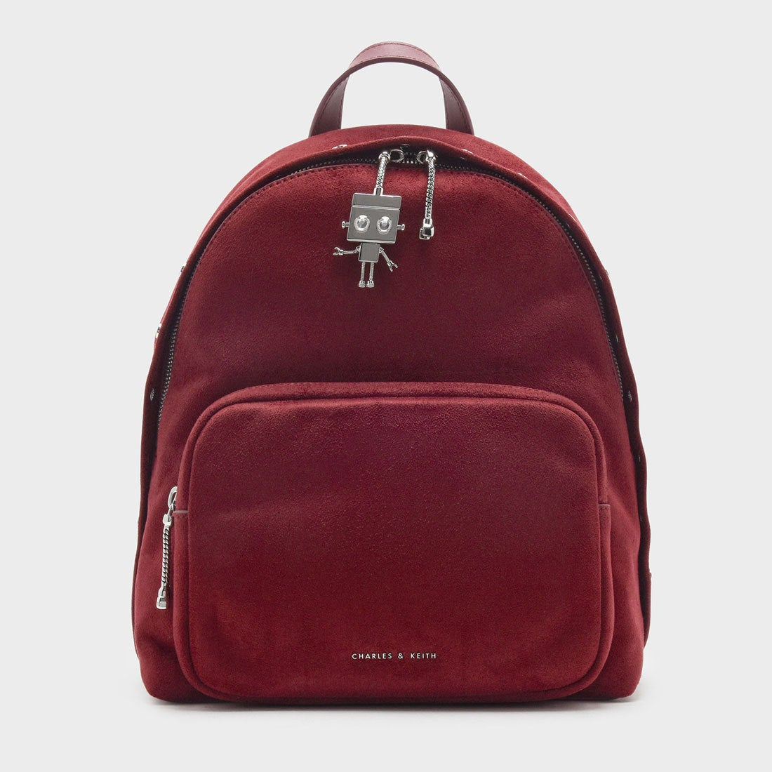 8da2f2b53262 CHARLES & KEITH ロボットチャームバックパック / ROBOT CHARM BACKPACK (Maroon)-CHARLES &  KEITH公式オンラインストア
