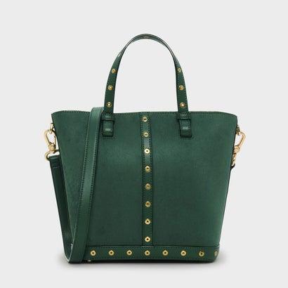 エンベリッシュトートバッグ / EMBELLISHED TOTE BAG (Dark Green)