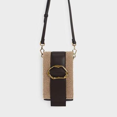 ゴールドバックル ディテール クロスボディバッグ / GOLD BUCKLE DETAIL CROSSBODY BAG (Brown)