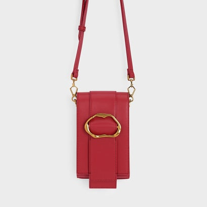 ゴールドバックル ディテール クロスボディバッグ / GOLD BUCKLE DETAIL CROSSBODY BAG (Red)