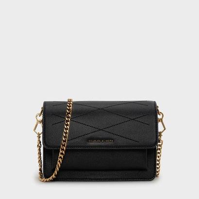 フロントフラップ クロスボディバッグ / FRONT FLAP CROSSBODY BAG (Black)