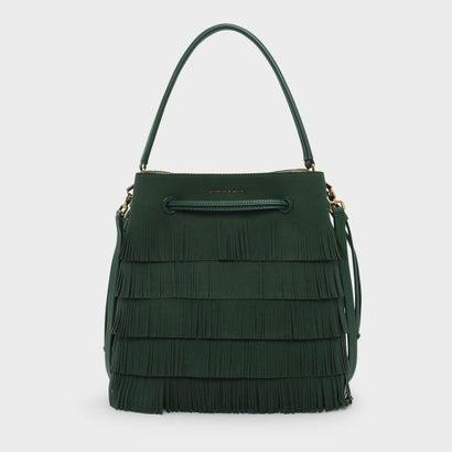 クラシックバックルドローストリングバッグ / CLASSIC BUCKET DRAWSTRING BAG (Dark Green)
