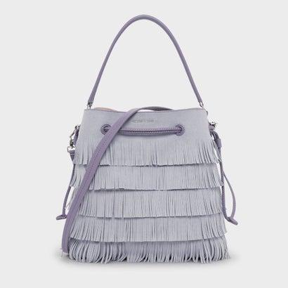 クラシックバックルドローストリングバッグ / CLASSIC BUCKET DRAWSTRING BAG (Lilac Grey)