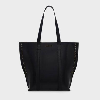 ステープラーエフェクトトートバッグ / STAPLER EFFECT TOTE BAG (Black)
