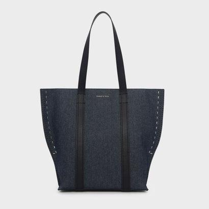 ステープラーエフェクトトートバッグ / STAPLER EFFECT TOTE BAG (Blue)