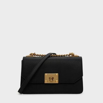 クラシックフロントフラップクロスボディバッグ / CLASSIC FRONT FLAP CROSSBODY BAG (Black)
