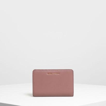 クラシックジップドウォレット / Classic Zipped Wallet (Mauve)