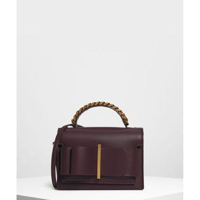 ボウディテール ハンドバッグ / Bow Detail Handbag (Prune)