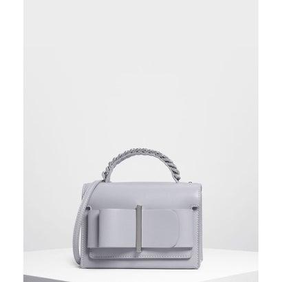 ボウディテールハンドバッグ / Bow Detail Handbag (Lilac Grey)