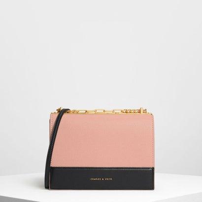 コントラストディテール ボクシー クロスボディバッグ / Contrast Detail Boxy Crossbody Bag(Blush)