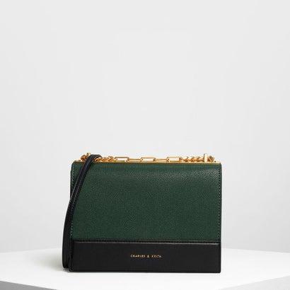 コントラストディテールボクシークロスボディバッグ / Contrast Detail Boxy Crossbody Bag (Dark Gr