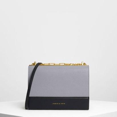 コントラストディテールボクシークロスボディバッグ / Contrast Detail Boxy Crossbody Bag (Lilac G