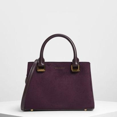 クラシック トップハンドル ハンドバッグ / Classic Top Handle Handbag (Prune)