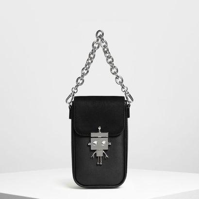 ロボットディテールプッシュロックバッグ / Robot Detail Push-Lock Bag (Black)