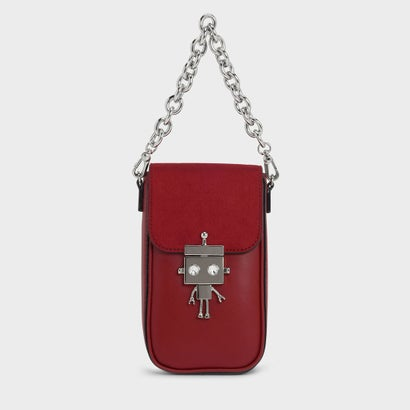 ロボットディテールプッシュロックバッグ / Robot Detail Push-Lock Bag (Maroon)