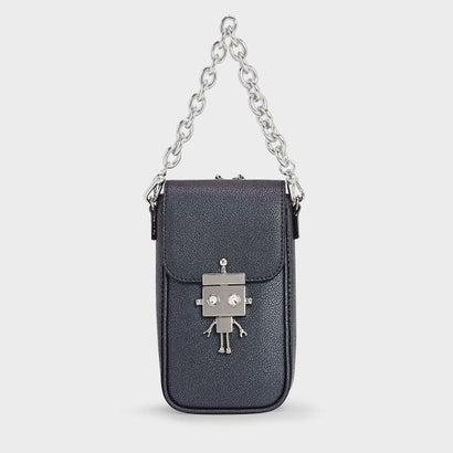ロボットディテールプッシュロックバッグ / Robot Detail Push-Lock Bag (Peacock)