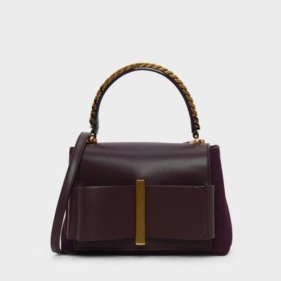 ボウディテールハンドバッグ / Bow Detail Handbag (Prune)