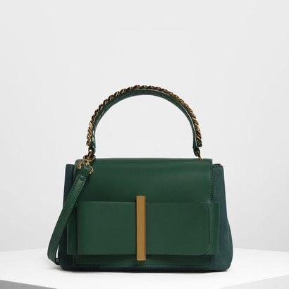 ボウディテールハンドバッグ / Bow Detail Handbag (Dark Green)